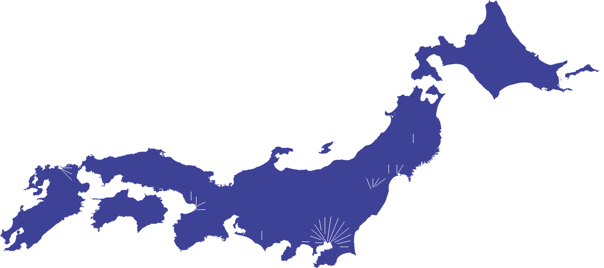 日本地図,事業所アクセス